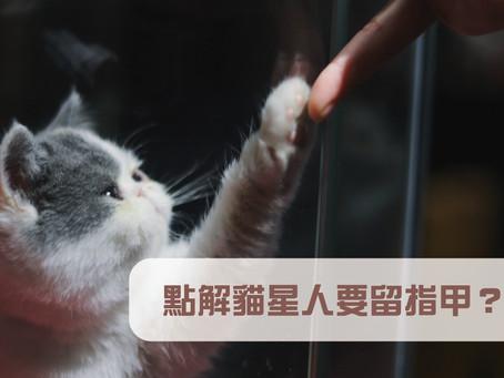 貓星人的指甲好重要?