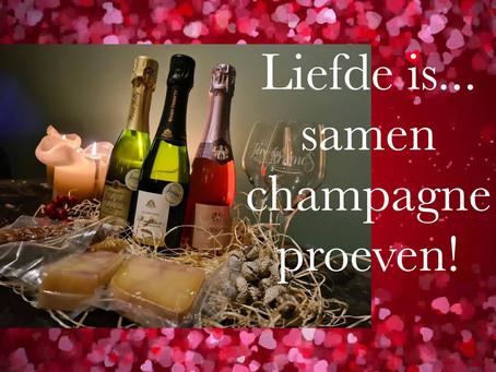 Liefde is..samen champagne proeven op Valentijnsdag!