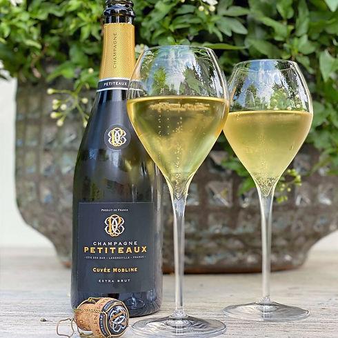 SC -voorzijde etiket Champagne Petiteaux