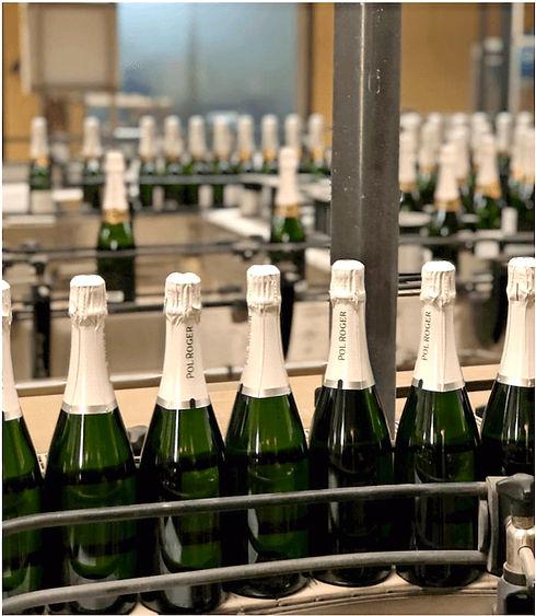 Champagneflessen Pol Roger