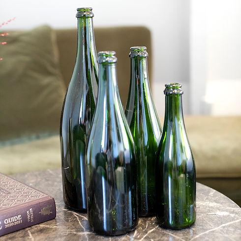 Diverse formaten champagneflessen