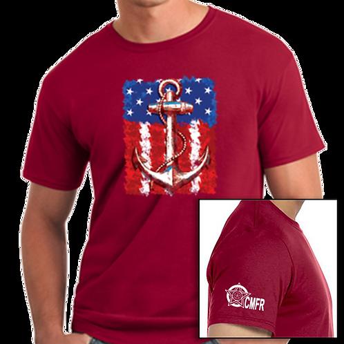 Anchor On U.S. Flag T-Shirt