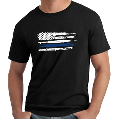 Police Distressed Flag T-Shirt
