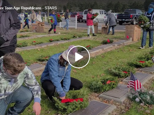 Honoring our Veterans today with laying of Wreaths Across America.