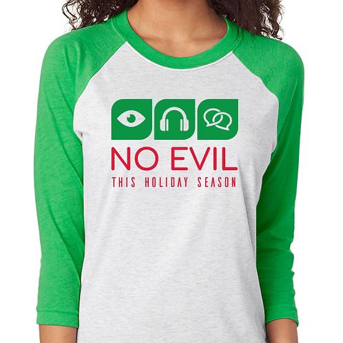 No Evil 3/4 Long Sleeve T-Shirt