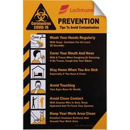 "COVID-19 Coronavirus Prevention Custom Utility Sign 5.5""x 8."