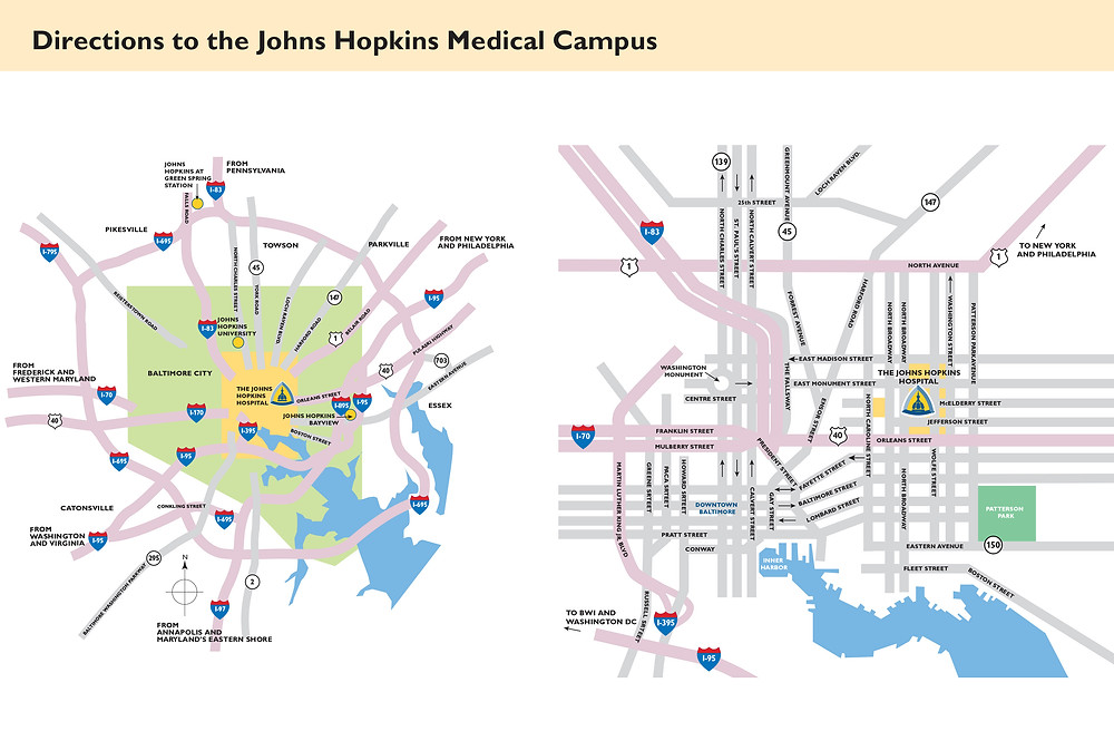 Directions to the Johns Hopkins Medical Campus