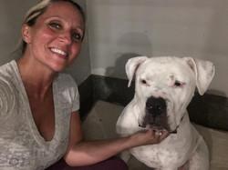 Scarlett with Pitbull
