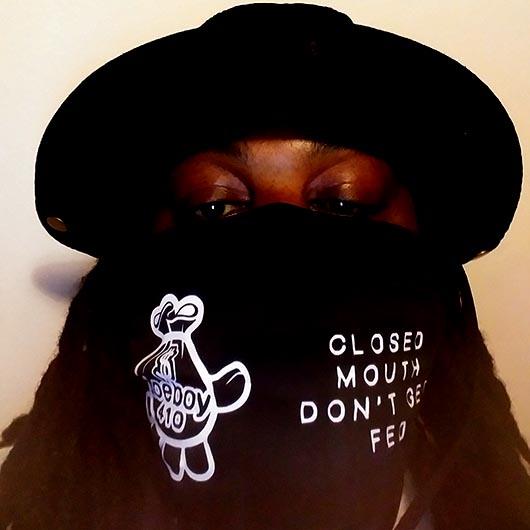DOEBOY Black Facemask Mockup