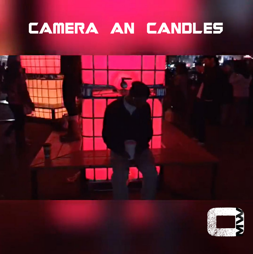 CAMERA AN CANDLES