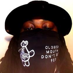 DOEBOY Black Gaiter Mockup