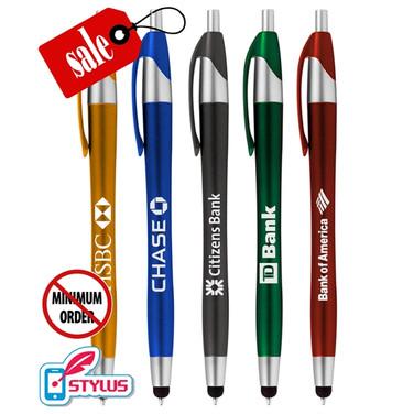 Closeout Elegant Stylus Click Promo Pen - No Minimum