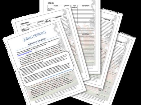 Apartment Checklist