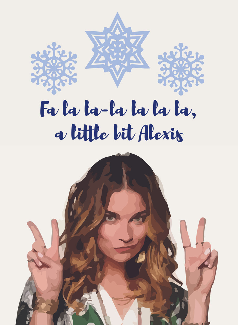 Alexis Rose holiday card