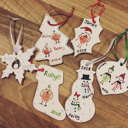 Pottery - Tree Decorations