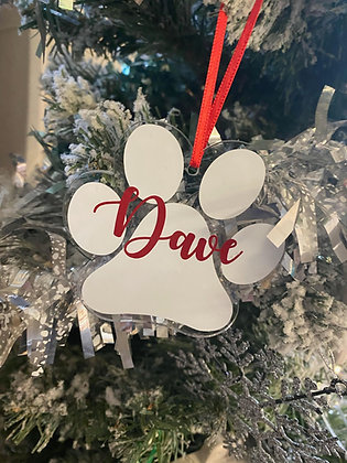 Paw Print Decoration