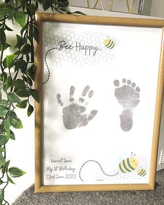 'Bee Happy' Inkless Keepsake Kit