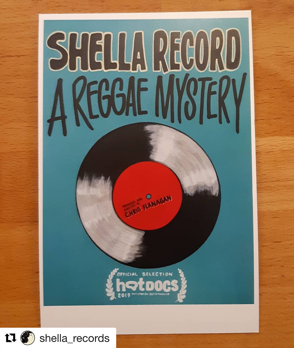 Shella Record - A Reggae Mystery poster from Hot Docs Film Festival edited by Sonia Godding Togobo