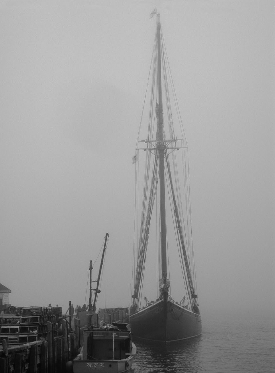 Bluenose II in Fog-2