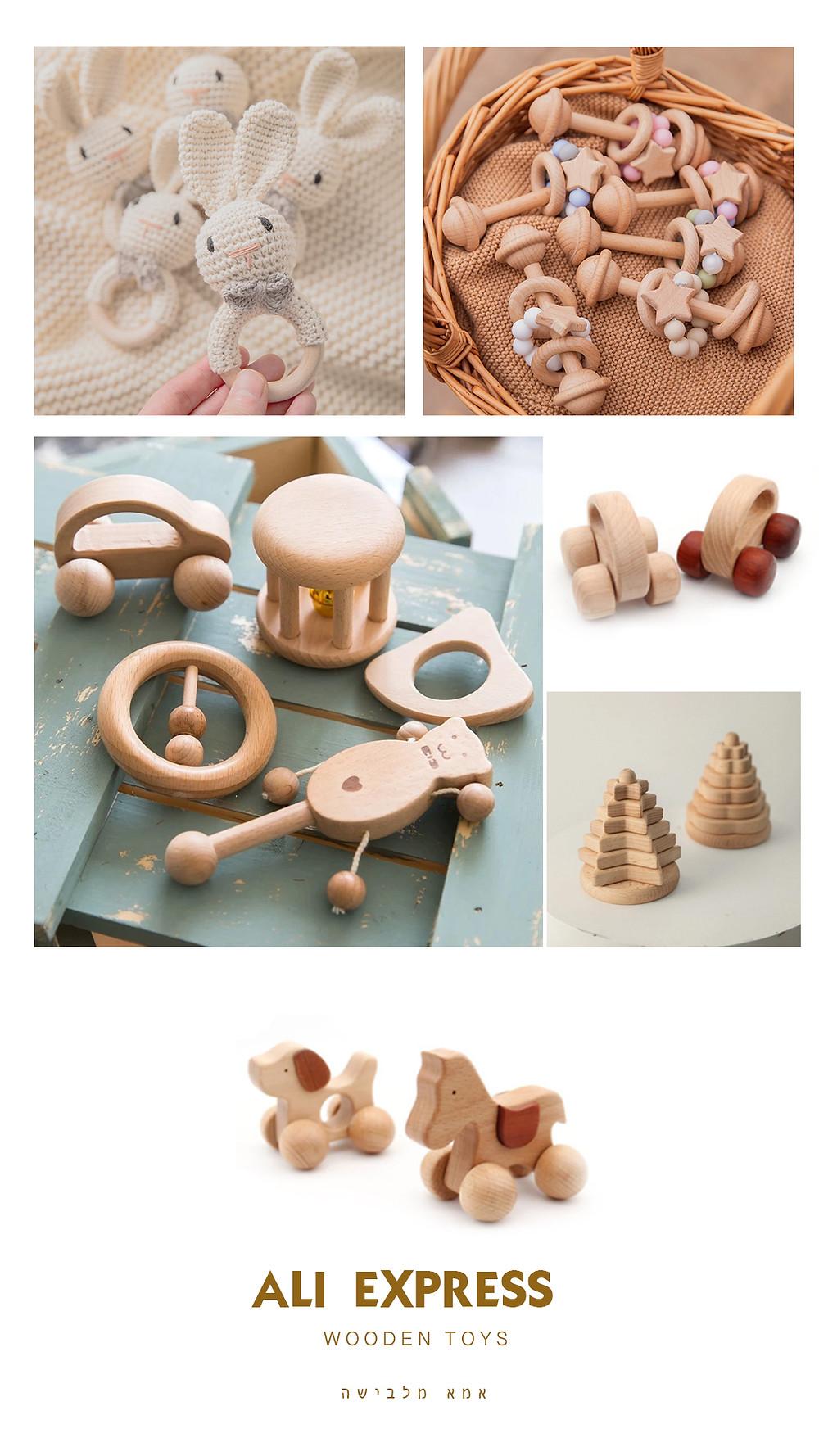 צעצועי עץ עלי אקספרס אמא מלבישה
