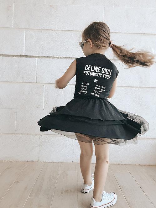שמלת טול שחורה   סלינונונו