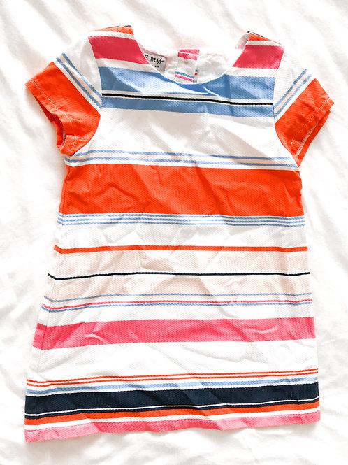 שמלה פסים צבעונית
