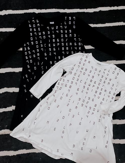 שמלה מספרים שחור