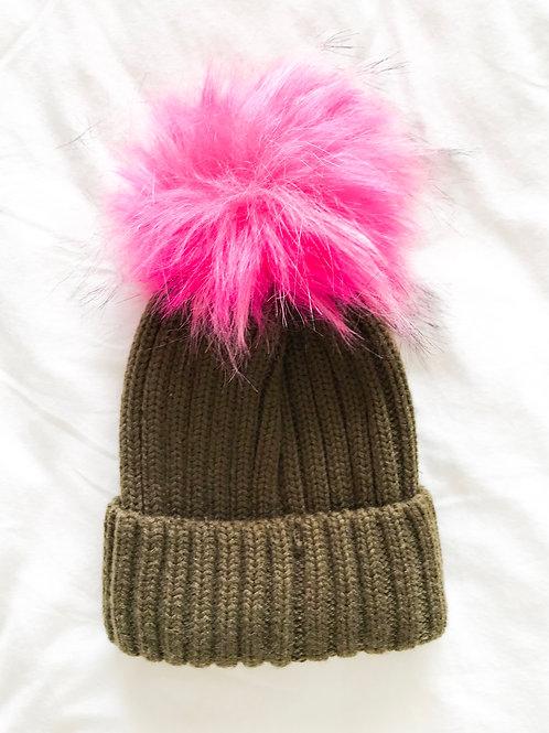 כובע גרב זית