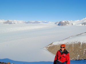 Jill at one of her Masters reseafch field sites at Amundsen Glacier, Antarctica, in 2016