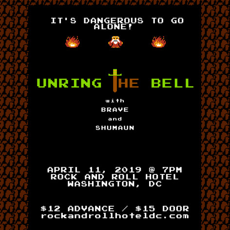 Unring The Bell - Rock & Roll Hotel Show Flyer