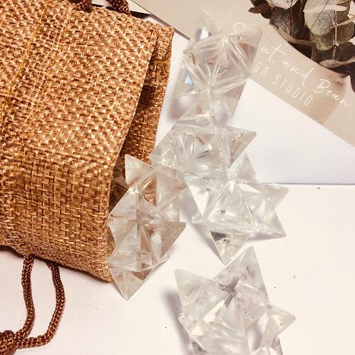 Clear quartz Merkaba