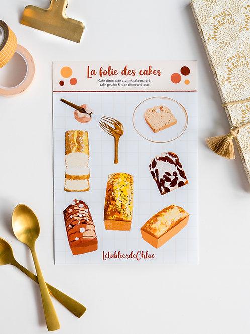 Planche de stickers : La folie des cakes