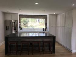 White Shaker Pantry Wall Kitchen