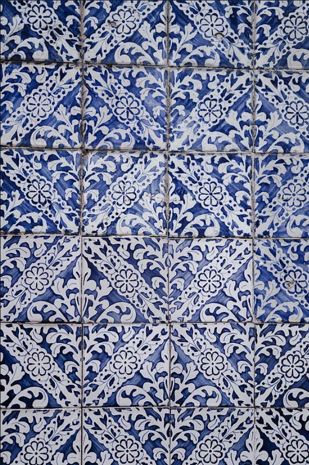 Blue tiles, Portugal