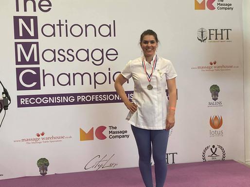 Tara wins SILVER at National Massage Championships.