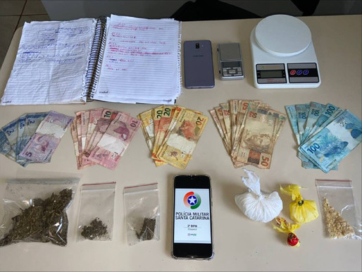 Dois homens são detidos por tráfico de drogas em Chapecó