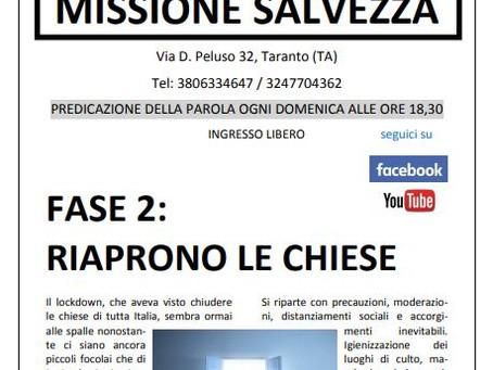 Nuovo numero del Giornalino di Missione Salvezza
