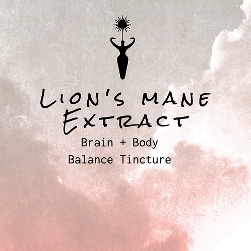 Lion's Mane Extract- Brain + Body Balance Tincture