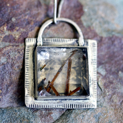 Rutilated Quartz Pendant Necklace