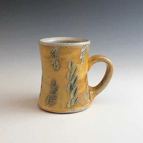 Joy Tanner - Yellow & Green Carved Mug