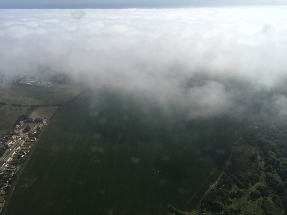 Sea Fret rolling over the land