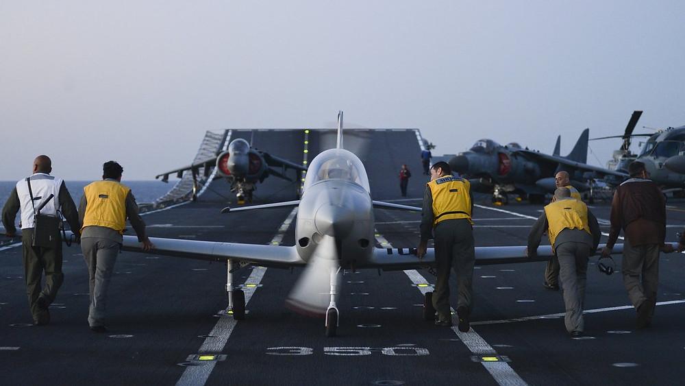 BlackShape Prime on an aircraft carrier.