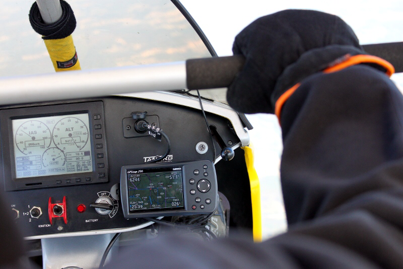 Microlight pilots most commonly use GPS to navigate.