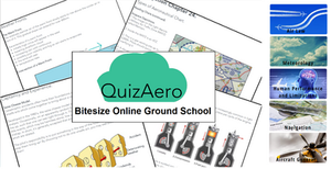 QuizAero Bitesize Theoretical Knowledge Course for student pilots.