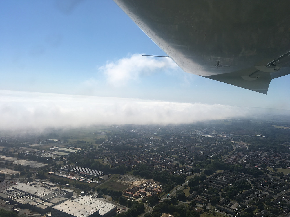 Haar forming over the North East Coast