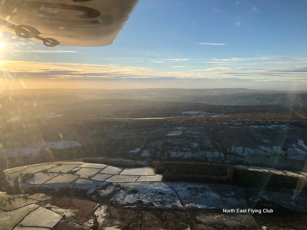 Yorkshire moors still frozen