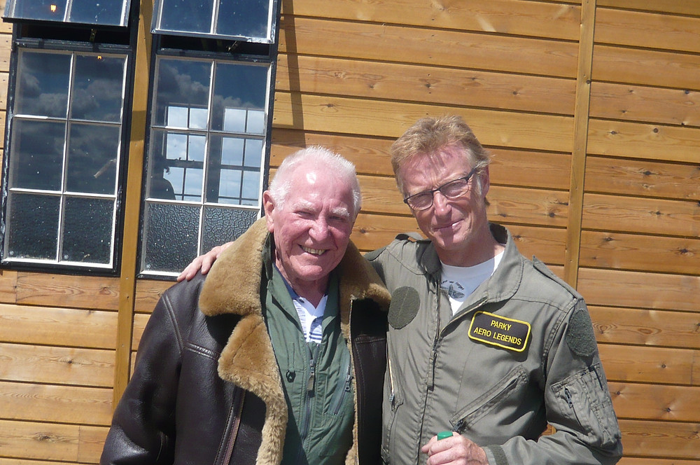 Roy Slim with the Aero Legends Pilot.