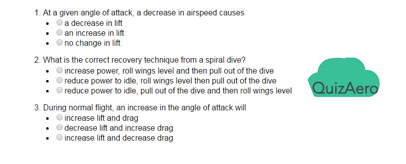 Aircraft General Practice exam