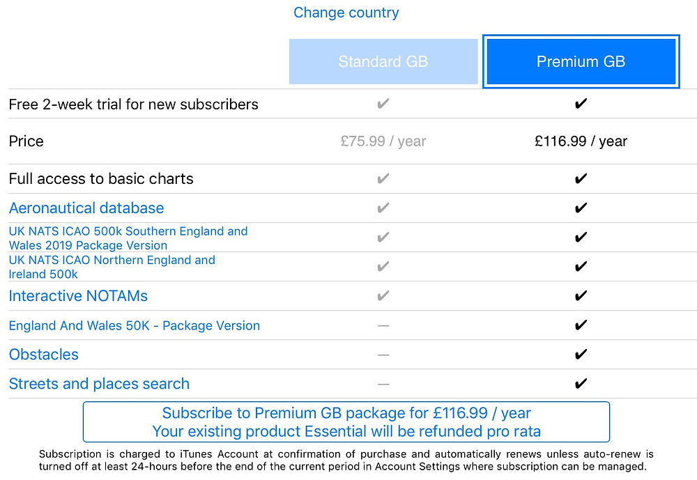 Air Navigation Pro Subscription Costs.
