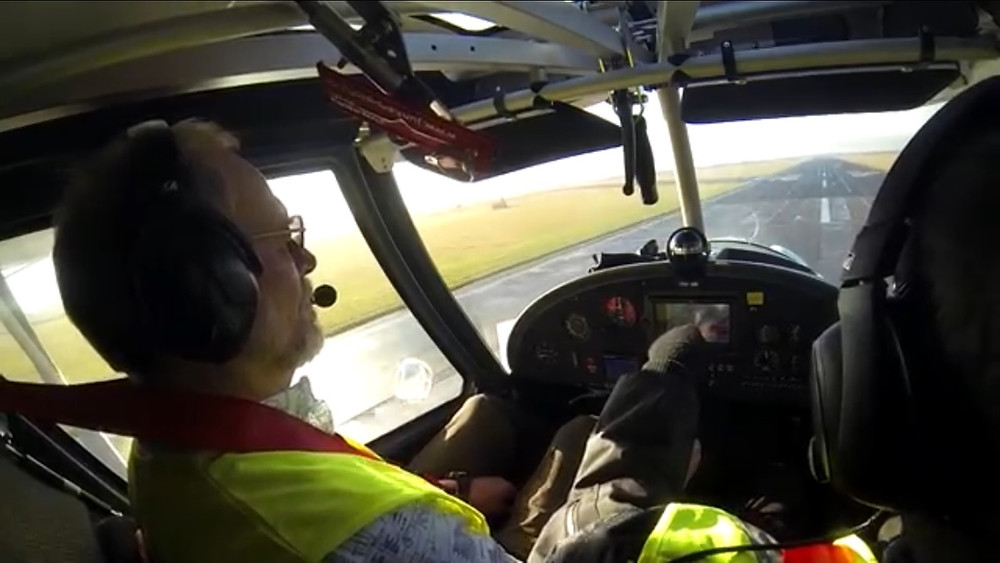 Instructing in the Ikarus C42B (G-CHRM) at Teesside Airport